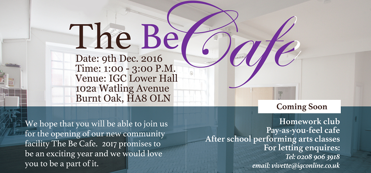 The Opening Of The Be Cafe – 9th December 2016