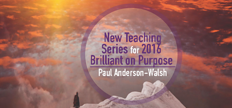 New Teaching Series For 2016: Brilliant On Purpose By Paul Anderson-Walsh